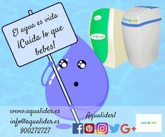 El agua es esencial para la vida. Cuida lo que bebes con los filtros de agua Aqualider
