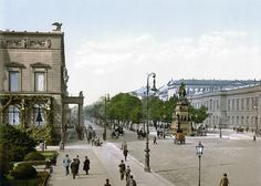 The statue of Frederick the Great on Berlin's Unter den Linden back in 1900.
