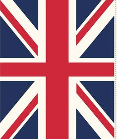 Union Jack Designer Fabric in Red and Blue by 44thStreetFabric, $8.99