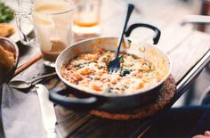 Creamy chicken and spinach skillet (recipe not included)