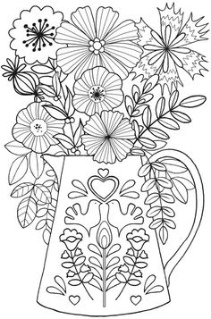 BLISS Joy Coloring Book: Your Passport to Calm Welcome to Dover Publications Livre de coloriage BLIS Free Adult Coloring Pages, Flower Coloring Pages, Free Printable Coloring Pages, Mandala Coloring, Coloring Book Pages, Coloring Sheets, Dover Publications, Motif Floral, Colorful Flowers
