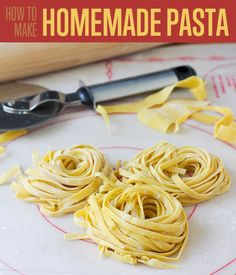 How to Make Pasta for Beginners | No Fuss Step By Step Tutorial for the Best Homemade Pasta Recipe | http://diyready.com/diy-recipe-how-to-make-pasta/