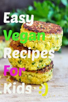 8 Super Easy Vegan Recipes for Kids -Probably the most difficult task of all mothers is to make their children to eat. However, if you make a yummy dish and serve it nicely maybe you'll win the heart Delicious Vegan Recipes, Raw Food Recipes, Vegan Recipes For Kids, Kid Recipes, Recipes For Children, Jello Recipes, Healthy Recipes, Whole30 Recipes, Dessert Recipes