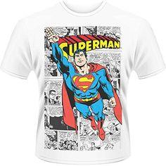 Playlogic International(World) Dc Originals Superman Comic Strip - Camiseta  Hombre  camiseta   9b85b03f7ee14