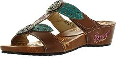 Corkys Footwear Womens Elite Belle Leather Sandals 7 Brown * You can find more details by visiting the image link.