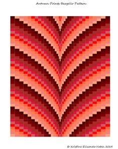Autumn Points Bargello Quilt Pattern & Tutorial Lap size and