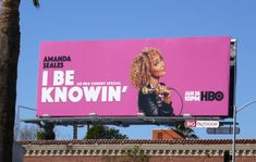 Amanda Seales I Be Knowin' stand-up billboard Bilboard Design, Graphic Design, Advertising Agency, Advertising Design, Word Puzzles For Kids, Billboard Mockup, Shower Filter, Fashion Magazine Cover, Physical Fitness