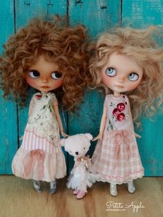 """Long dresses for Blythe girls by Petite Apple. They fit many other 12-14"""" dolls too"""
