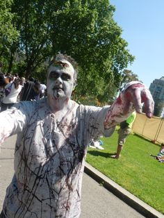 First zombie of the day - Melbourne Zombie Shuffle 2012