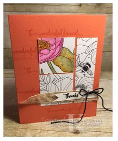 "Faithful Inkspirations: Squee! Watercolor Pencils is made with Stampin' Up's ""Dragonfly Dreams"" stamp set and Inside the Lines DSP using SU's NEW watercolor pencils!!"