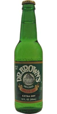 Dr. Brown's: Extra Dry Ginger Ale | #soda #gingerale