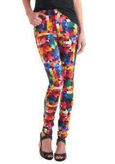 Love these. It'€™s a Colorful Life Pants, #ModCloth