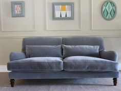 The Aberdeen is an elegant design that has a hardwood frame, turned wooden legs, is upholstered in a range of fabrics and is hand-made in the UK. Sectional Sofa Sale, Sofa Uk, Couches, Velvet Upholstered Bed, Grey Velvet Sofa, Corner Sofa Chaise, Leather Corner Sofa, Home Decor Styles, Cheap Home Decor