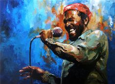 Marvin Gaye painting Victor Bauer