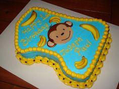 First birthday monkey cake | First birthday monkey cake | Flickr Monkey Crafts, First Birthdays, Cake, One Year Birthday, Kuchen, Torte, Cookies, Cheeseburger Paradise Pie, Tart