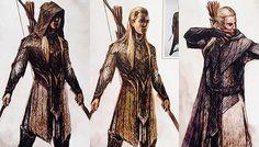 Legolas wardrobe designs for 'The Hobbit'