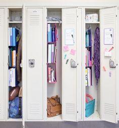 High School Hacks, Life Hacks For School, School Study Tips, Cute Locker Ideas, Diy Locker, Locker Storage, Middle School Lockers, Middle School Supplies, School Locker Decorations