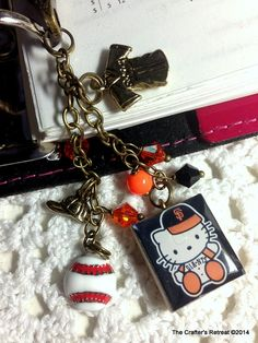 SF Giants Kitty Fan Cell Phone Filofax or Purse by CraftersRetreat