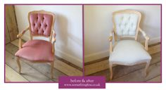 Repro Chair for Client Before and After.