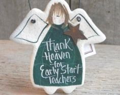 Early Start Teacher Thank You Gifts Salt Dough Ornaments Etsy :: Your place to buy and sell all things handmade