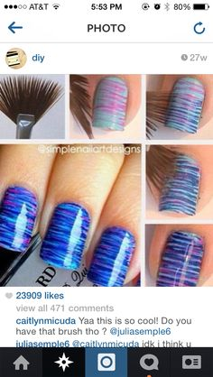 15 Easy and Simple Nail Art Designs for Beginners To Do At Home Here is the 15 Easy and Simple Nail Designs for Beginners To Do At Home. Learn Easy Nail Art Designs with this Given Step by Step Tutorial Pictures. Nail Art Hacks, Nail Art Diy, Easy Nail Art, Easy Art, Nail Art At Home, Nail Art Tools, It's Easy, Simple Nail Designs, Nail Art Designs