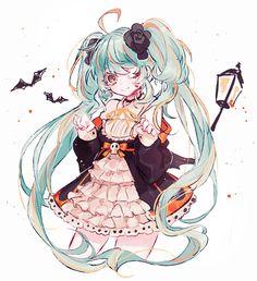 "orenogazoo: ""Halloween por ALMUERZO [Pixiv] a través de Illustail"""