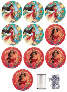 Disney Elena Of Avalor Birthday Party Favor Supplies Balloon Mylar Combo Birthday Party Favors, 7th Birthday, Birthday Decorations, Flamenco Party, Party Organization, Princess Theme, Baby Images, Bottle Cap Images, Ideas Para Fiestas