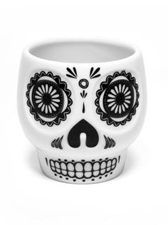 The perfect mug to sip your coffee from as you nurse your hangover from last night's Day Of The Dead celebration