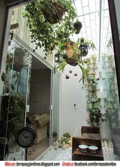 Jardim de inverno com cascata usando potes de barro e for Jardin de invierno sa