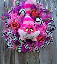 Alice In Wonderland Wreath Alice In Wonderland by BaBamWreaths