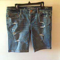 Pretty Little Liars Emily Aeropostale Bermuda Shorts Sz 8 Medium Wash Denim New | eBay
