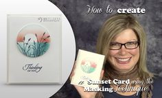 VIDEO: How to make a Sunset using the Masking Technique | Stampin Up Demonstrator - Tami White - Stamp With Tami Crafting and Card-Making Stampin Up blog