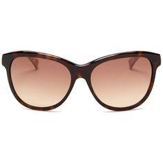 Diane von Furstenberg Women's Cat Eye Sunglasses ($50) ❤ liked on Polyvore featuring accessories, eyewear, sunglasses, tortoise, cat-eye glasses, brown gradient sunglasses, tortoiseshell cat eye glasses, tortoiseshell cat eye sunglasses and cateye sunglasses