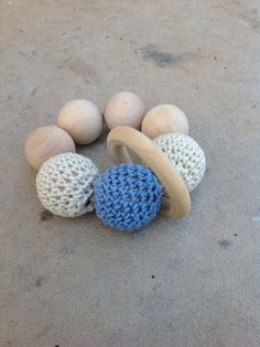Wooden bead teething toy on Etsy, $14.00