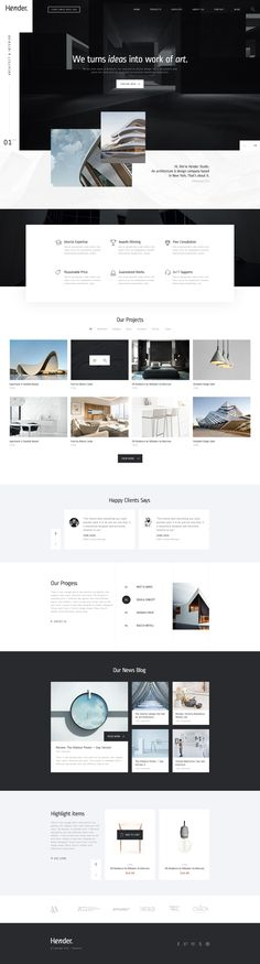 Hender - Architecture and Interior Design Agency PSD Template • Download ➝ https://themeforest.net/item/hender-architecture-and-interior-design-agency-psd-template/18030192?ref=pxcr