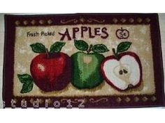 Exceptional Kitchen Apple Rugs | ... Kitchen Fresh Picked Apples Apple Slice Rug Mat  19.7