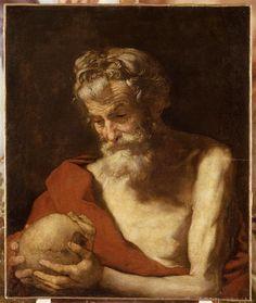 """""""Saint Jérôme"""" de Jusepe de Ribera (1591-1652), (dit) l'Espagnolet. Lille, Palais des Beaux-Arts - Photo (C) RMN-Grand Palais / René-Gabriel Ojéda"""
