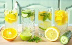 Suco detox de laranja com pepino para emagrecer
