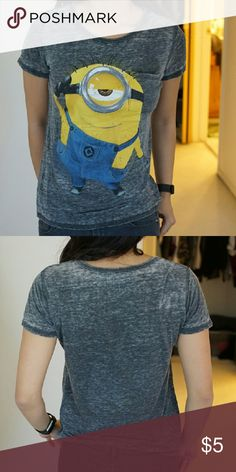 Burnt out Monion tee Light and comfortable minion tee Tops Tees - Short Sleeve