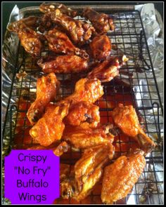 Alton Brown's #Crispy No Fry #BuffaloWings (Rigged) on MyRecipeMagic.com #SuperBowl