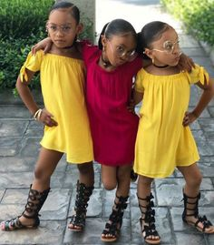 I would name them Hazel, April, Stori if they were my daughters and I would spoil them so damn much and they lil bfs gone be scared of me… Cute Baby Girl, Cute Little Girls, Cute Babies, Cute Black Kids, Black Child, Baby Girls, Little Girl Outfits, Kids Outfits, Cute Outfits