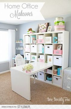 Office Makeover Reveal home office/craft room makeover.this is my exact set up in my craft/homeschool room.home office/craft room makeover.this is my exact set up in my craft/homeschool room. Space Crafts, Home Crafts, Home Projects, Diy Home Decor, Room Decor, Craft Space, Budget Crafts, Craft Room Design, Diy Crafts