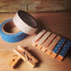 #hazlotumismo customiza pinzas con cinta decorativa #manualidades washi tape