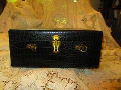 Little Black Case Faux Alligator Vintage by LeapingFrogDesigns, $14.95