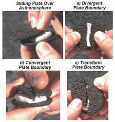 Divergent plate boundaries and more... Learn about earthquakes... with Oreo cookies!