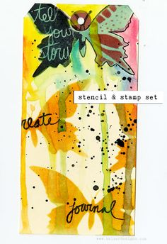 Julie Fei-Fan Balzer's NEW stencil and stamp sets beautifully demo'd.