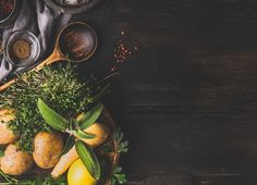Food and cooking background by VICUSCHKA on @creativemarket