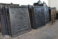Antique Iron Firebacks for over the LG Black Stainless Steel Range. #LGLimitlessDesign  #Contest