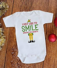 """Take a look at this White """"I Just Like to Smile' Bodysuit - Newborn & Infant today! Baby Hunter, Miracle Baby, Baby Kids Clothes, Everything Baby, Baby Boy Rooms, Future Baby, Future Daughter, Baby Fever, Cute Babies"""