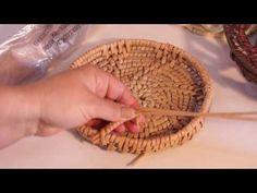 Ажурное окончание плетения плюс ручка в технике обмотка | oblacco